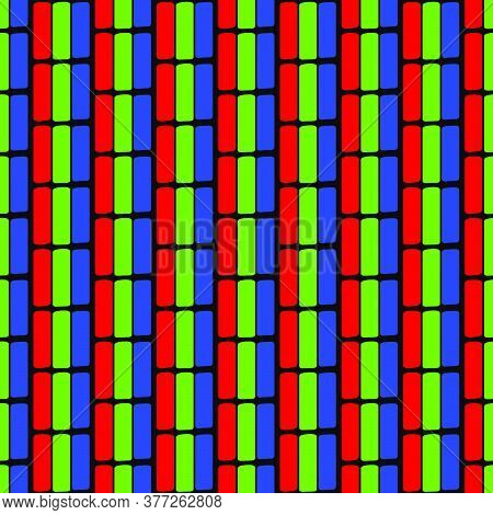 Tv Crt Pixels Vector Pattern