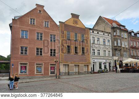 Olsztyn, Poland, July 12: Street Of Old Town On July 12, 2020 At Olsztyn, Poland. Olsztyn Is A City
