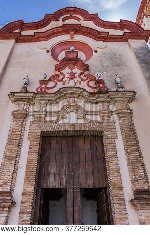 Entrance To The Santa Maria Church In Zahara, Spain