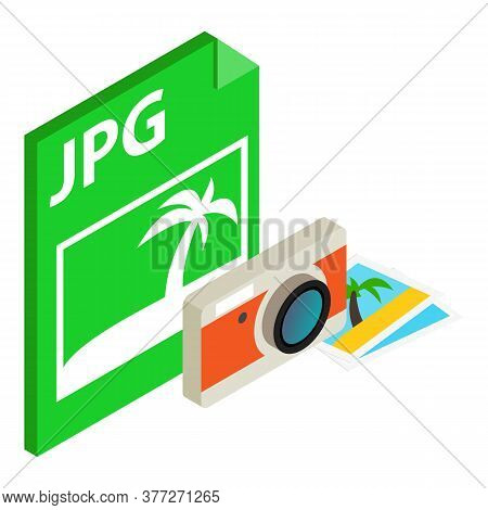 Jpg File Icon. Isometric Illustration Of Jpg File Vector Icon For Web