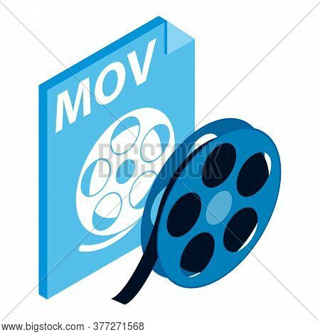 Mov File Icon. Isometric Illustration Of Mov File Vector Icon For Web