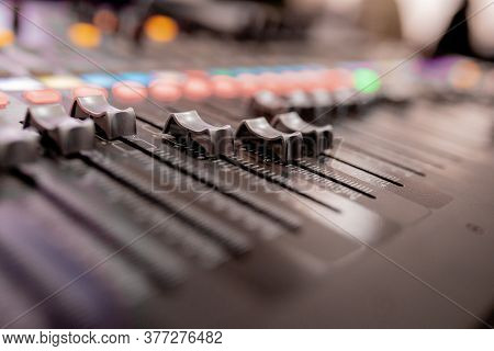 Buttons Equipment For Sound Mixer Control, Equipment For Sound Mixer Control, Electornic Device