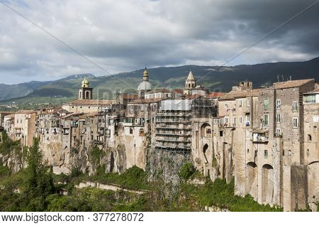 View Of The Southern Village Of St. Agata De Goti, Italy