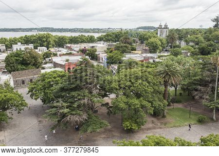 Colonia Del Sacramento / Uruguay; Jan 2, 2019: Panoramic View Of The City From The Viewpoint At The