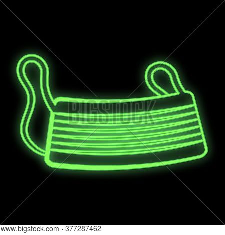 Bright Glowing Green Medical Scientific Digital Neon Sign For Hospital Laboratory Pharmacy Beautiful