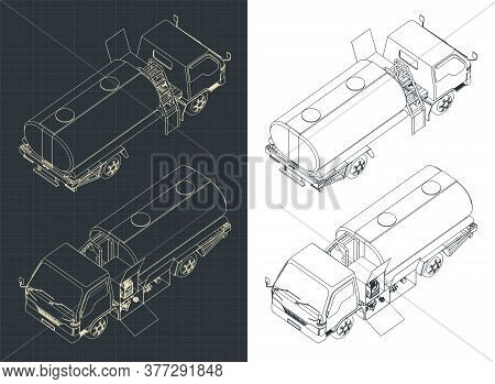 Airport Fuel Truck Isometric Drawings