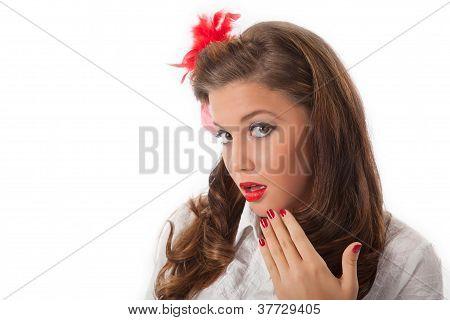 Surprised Pin-up Teenage Girl