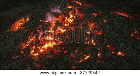 Smoldering Fire