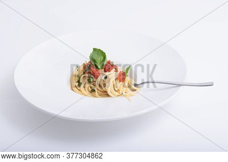 Tasty Spaghetti Dish With Tomato And Herbs