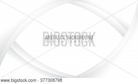 Abstract Smooth Monochrome Frame. Modern Background Design Template. White And Gray Gradation Color