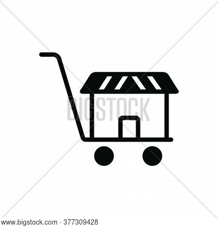 Black Solid Icon For Supermarket Basket Buy Cart Shopping Store Website Online Hypermarket Ecommerce