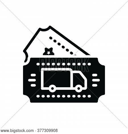 Black Solid Icon For Transport-ticket Transport Ticket Travel Booking Transport Tourism Reservation