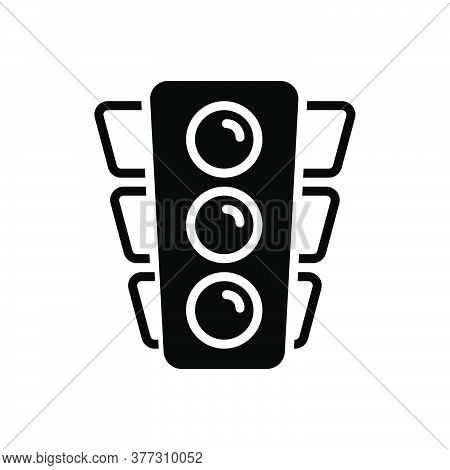 Black Solid Icon For Traffic-light Traffic Light Stoplight Semaphore Signal Control Sign Safety Road