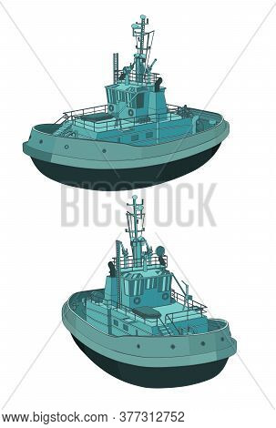Tugboat Color Illustrations