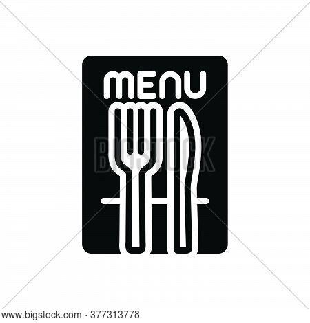 Black Solid Icon For Restaurant Shop Food Mess Canteen Restaurateur Knife Spoons Fork Menu