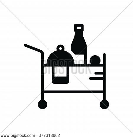 Black Solid Icon For Room-service Room Service Service Beverage Accommodation Breakfast Catering Res