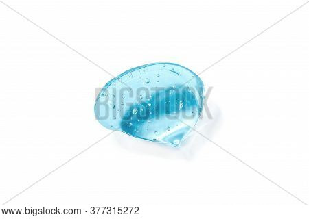 Texture Of Hyaluronic Acid, Serum Gel. Transparent Smear Of Gel Isolated On A White Background. Gel