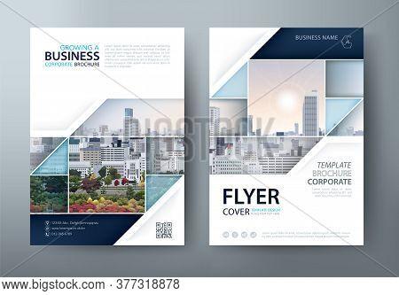 Flyer Design, Leaflet Cover Presentation, Book Cover Template Vector