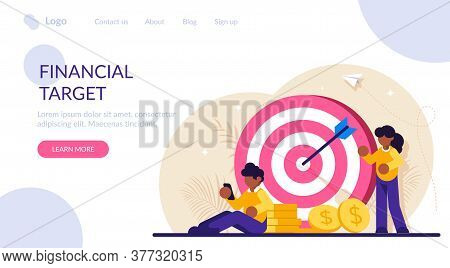 Concept Of Financial Target. Data Analytics, Marketing Solutions. Financial Performance. People In T