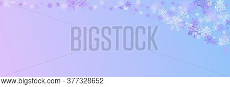 Christmas Pattern With Various Complex Big And Small Snowflakes Isolated On Colorful Background. Mod