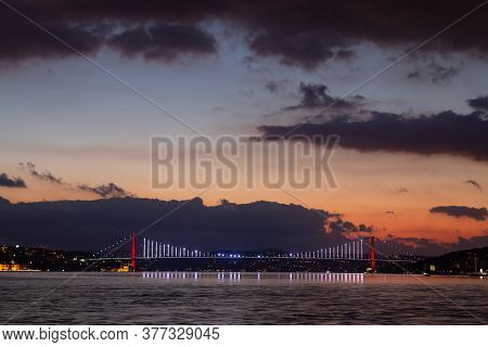 15 July Martyrs Bridge In Istanbul City, Turkey