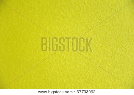Bright Neon Yellow Painted Background