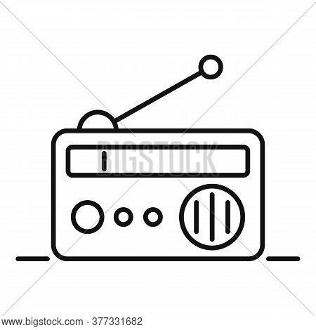 Storyteller Radio Icon. Outline Storyteller Radio Vector Icon For Web Design Isolated On White Backg