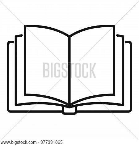 Storyteller Open Book Icon. Outline Storyteller Open Book Vector Icon For Web Design Isolated On Whi