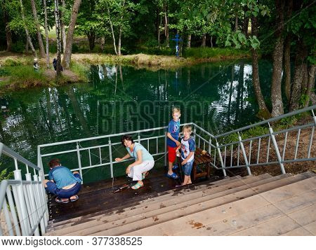 Slavgorod, Belarus - July 19, 2020 Golubaya Krynitsa Is A Holy Source. Place Of Pilgrimage