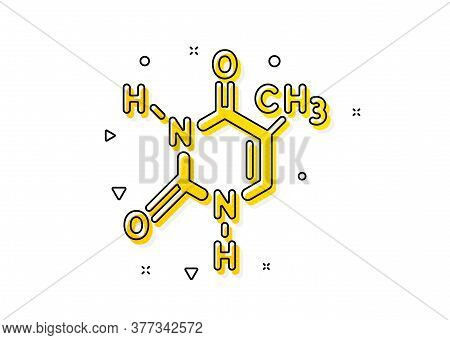 Chemistry Lab Sign. Chemical Formula Icon. Analysis Symbol. Yellow Circles Pattern. Classic Chemical
