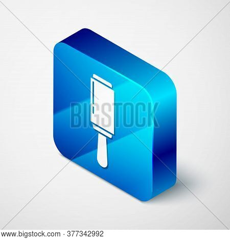 Isometric Adhesive Roller For Cleaning Clothes Icon Isolated On Grey Background. Getting Rid Of Debr