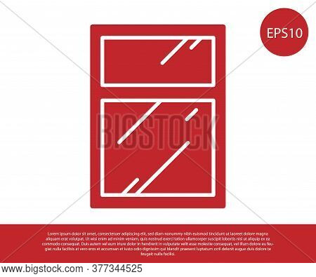 Red Cleaning Service For Windows Icon Isolated On White Background. Squeegee, Scraper, Wiper. Vector