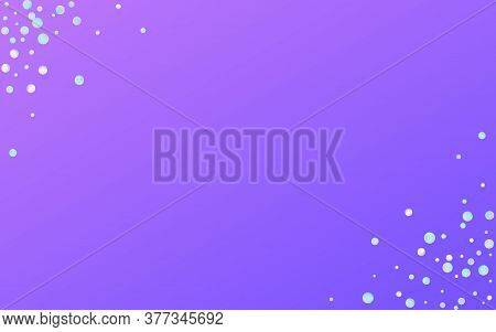 Multicolored Dust Flying Blue Background. Hologram Fallingfestive Round Pattern. Effect Invitation.