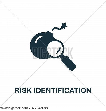 Risk Identification Icon. Simple Element From Risk Management Collection. Creative Risk Identificati