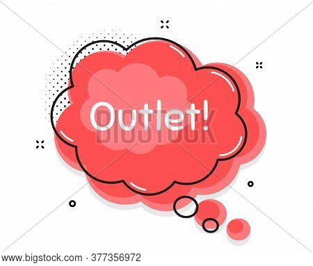 Outlet Symbol. Thought Chat Bubble. Special Offer Price Sign. Advertising Discounts. Speech Bubble W