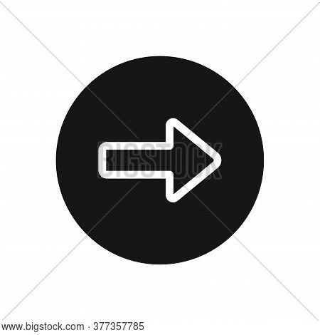 Right Arrow Icon Isolated On White Background. Right Arrow Icon In Trendy Design Style For Web Site