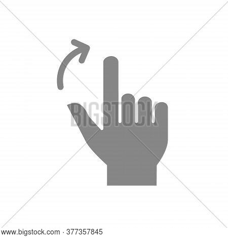 Two Fingers Flick Right Grey Icon. Touch Screen Hand Gesture Symbol