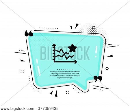 Ranking Star Icon. Quote Speech Bubble. Stars Rating Sign. Best Stats Rank Symbol. Quotation Marks.
