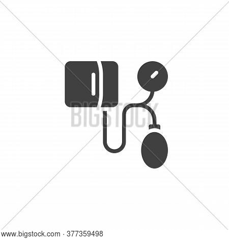 Medical Tonometer Vector Icon. Filled Flat Sign For Mobile Concept And Web Design. Blood Pressure To