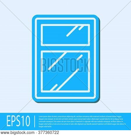 Blue Line Cleaning Service For Windows Icon Isolated On Grey Background. Squeegee, Scraper, Wiper. V