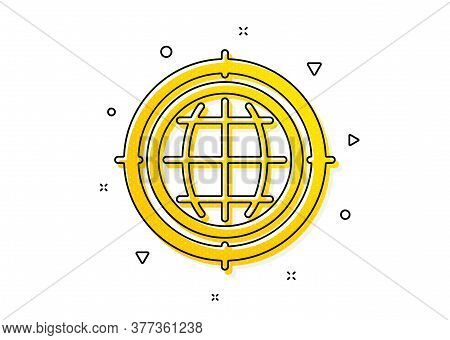 Search Engine Optimization Sign. Seo Target Icon. Internet Symbol. Yellow Circles Pattern. Classic S