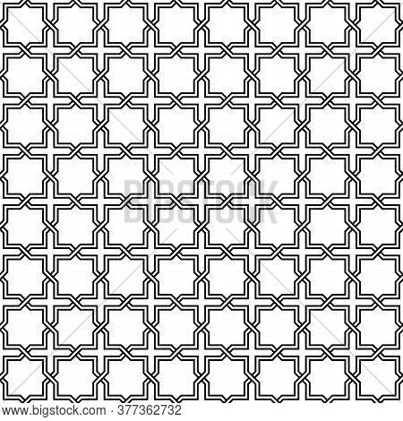 Arabesque Style Seamless Ornamental Vector Pattern. Arabic Background.