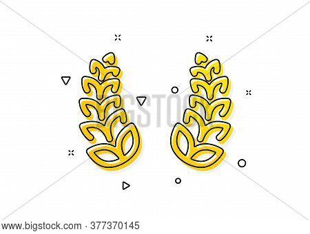 Reward Symbol. Laurel Wreath Icon. Winner Award Sign. Yellow Circles Pattern. Classic Laurel Wreath