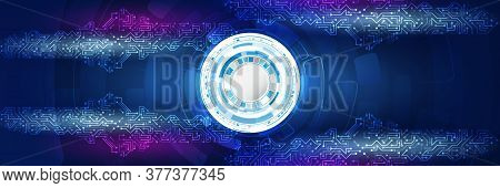 Cyber Security Internet And Networking Concept. Abstract Global Sci Fi Concept. Hi-tech Vector Illus