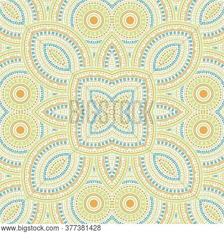 Ornate Moroccan Zellige Tile Seamless Pattern. Ethnic Geometric Vector Swatch. Fabric Print Design.