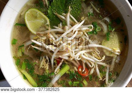 Bowl Of Vietnamese Pho Bo Soup