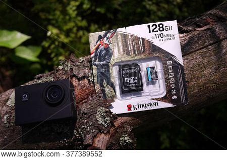 Memory Card For Equipment. Large Memory Card For Smartphones And Cameras.