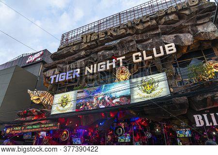 Thailand, Phuket, April 15, 2020: Tiger Nightclub, Night Life Center Of Phuket. A Place Where Touris