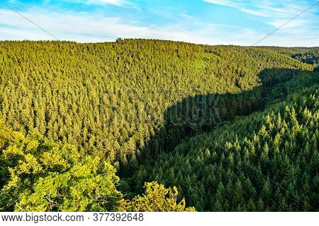 View Of The Vosges Mountains In The Bas-rhin Department Of France