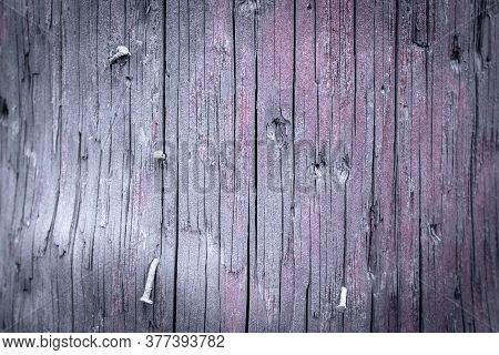 Wood Table Background. Timber Plank Surface Wall For Vintage Grunge Wallpaper. Dark Grain Panel Boar